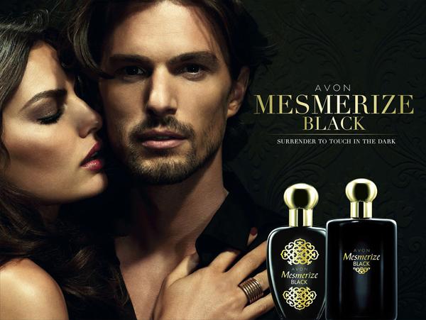 реклама женского аромата mesmerize black от avon