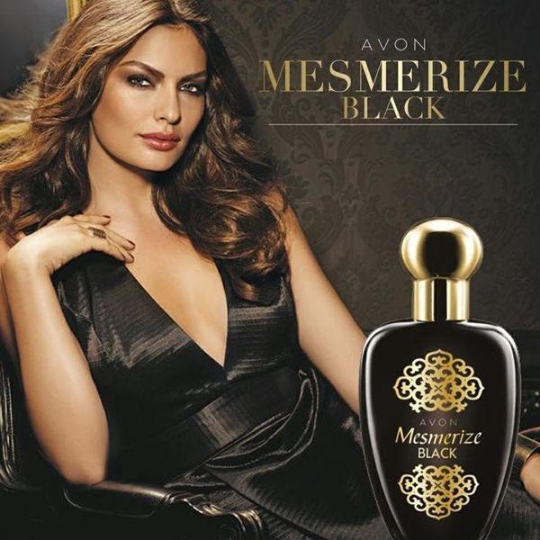 реклама женской версии аромата Mesmerize Black for Her от эйвон