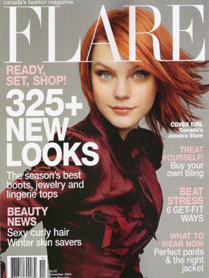 Джессика Стэм на обложке журнала Flare