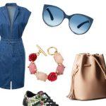 Джинсовое платье — составляем модный образ