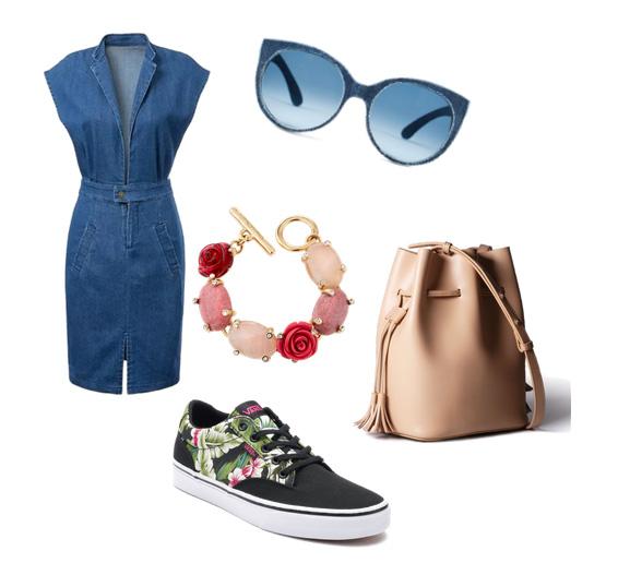 модные сеты лето 2016 - джинсовое платье