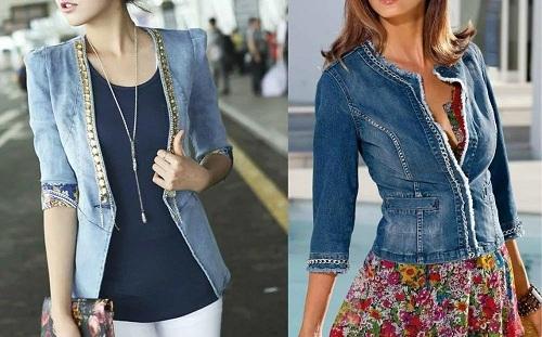 джинсовый жакет - с чем носить