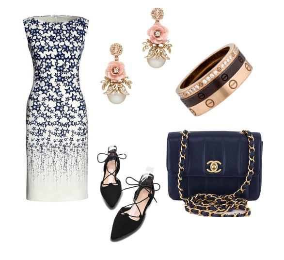 платье и серьги - модные сеты лето 2016