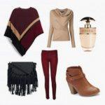 С чем сочетать пончо — модный сет на осень