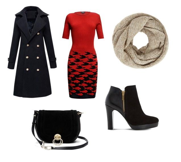 модный сет, пальто, платье