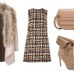 Пальто с искусственным мехом — модный сет