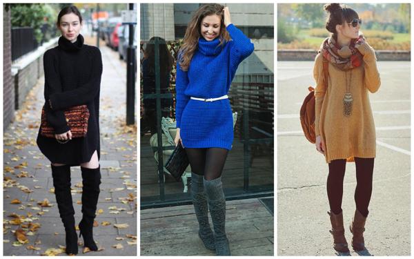 модные вязаные платья, зимние вязаные платья, трикотажные вязаные платья