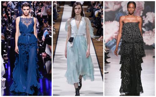 модные платья на Новый год - многослойность