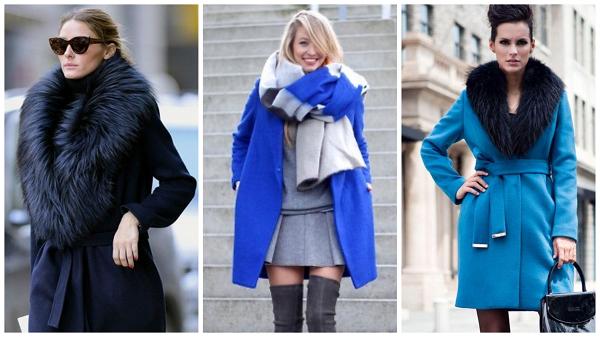 темно синее женское пальто, фото, зимнее синее пальто с мехом