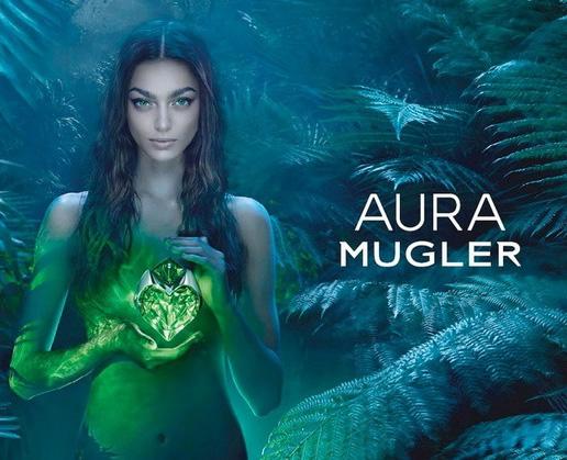 реклама аромата Aura Mugler