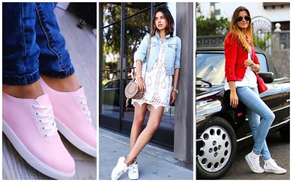 самая модная женская обувь лето 2018 - кеды пастельного цвета