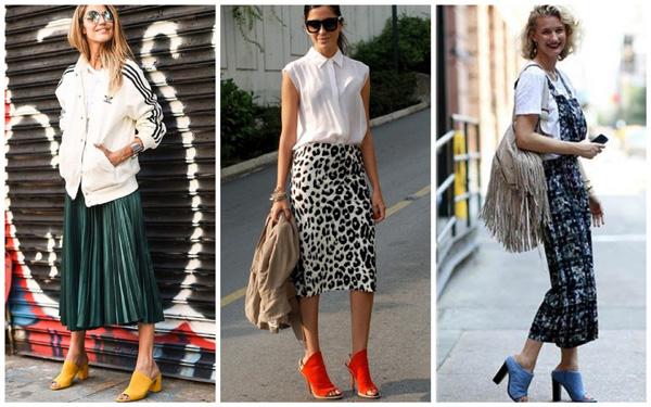 самая модная женская обувь лето 2018 - мюли яркого цвета