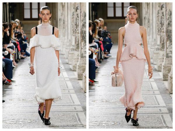самые модные платья на лето 2018 - модное платье с воланами
