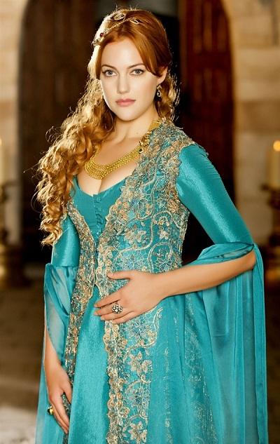 голубое платье хюррем султан