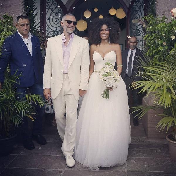 венсан кассель и тина кунаки, свадьба фото