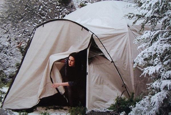 сцена в палатке - сага сумерки