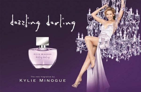 реклама аромата Dazzling Darling от Кайли Миноуг