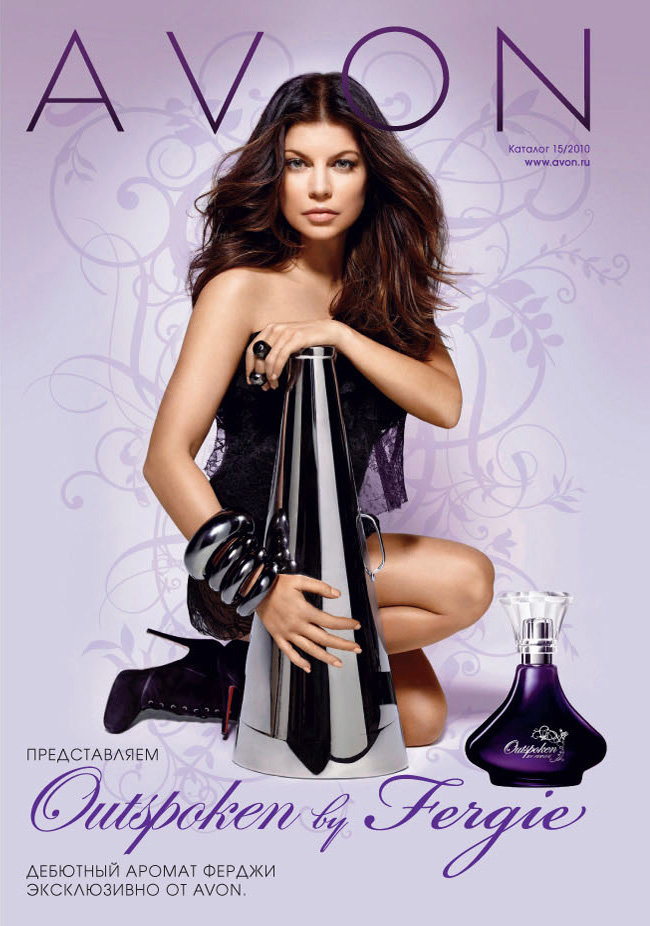 реклама аромата avon outspoken by fergie