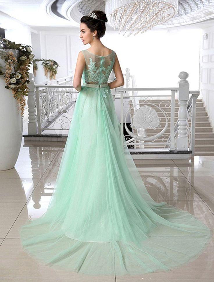 мятно зеленое свадебное платье, мода для невест 2020